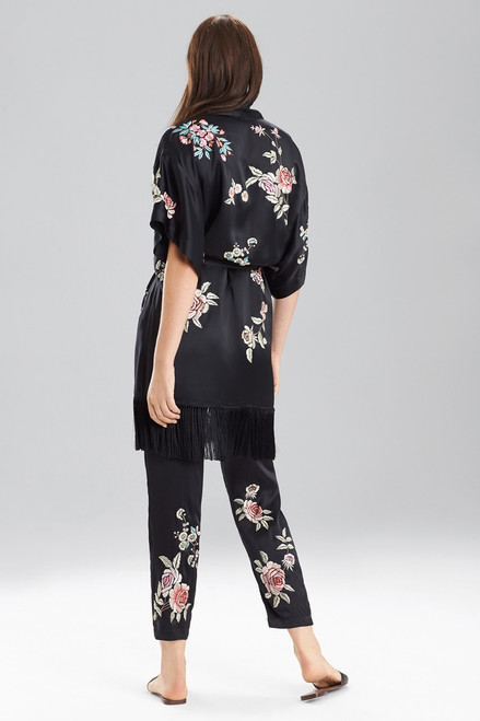 Josie Natori Embroidery Wrap at The Natori Company
