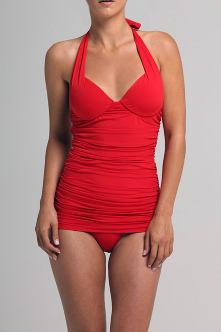 Red Push Up Plunge Maillot at The Natori Company