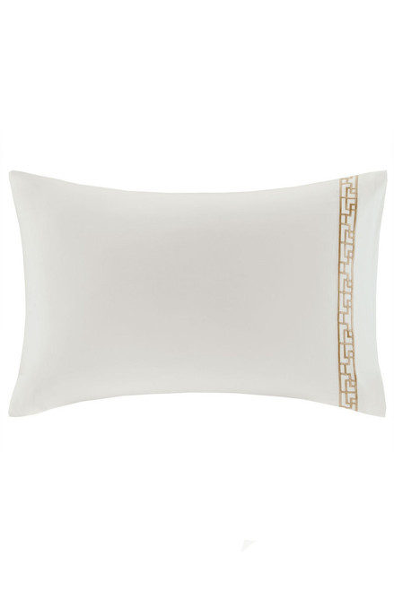 Buy Ming Fretwork White/Champagne Pillow Case from