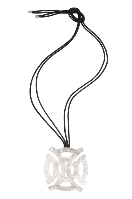 Silver Geo Necklace at The Natori Company