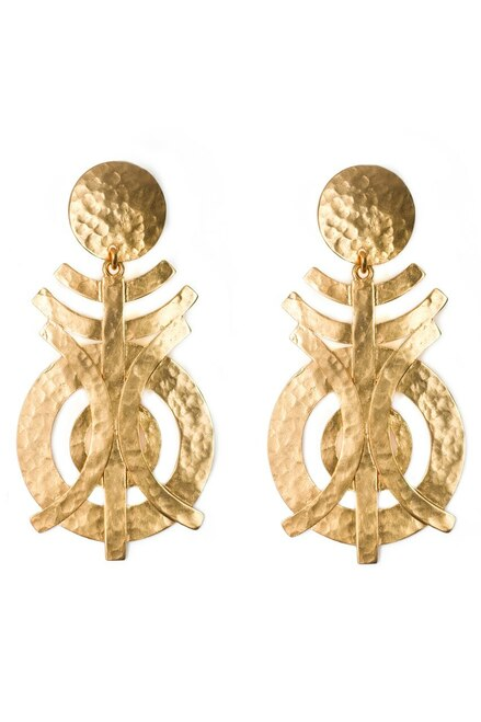 Gold Geo Earrings at The Natori Company