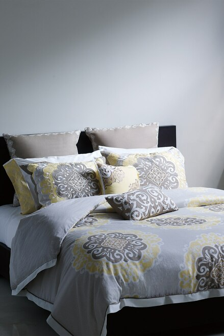N Natori Medallion Square Pillow at The Natori Company