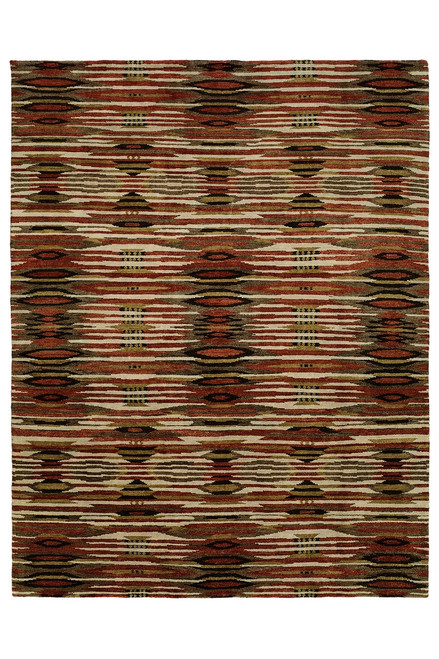 Natori Dynasty- Ethnic Ikat Dark Tones Rug at The Natori Company