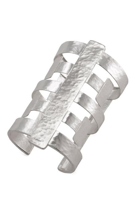 Silver Geo Cuff at The Natori Company