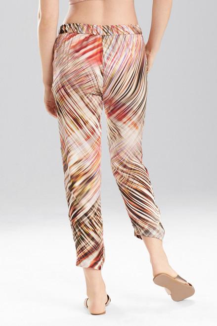 Josie Natori Printed Silk Charmeuse Pants at The Natori Company