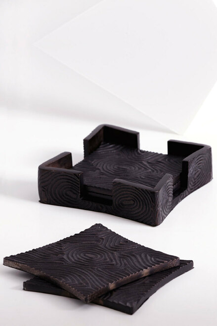 Buy Wood Grain Coaster Set from