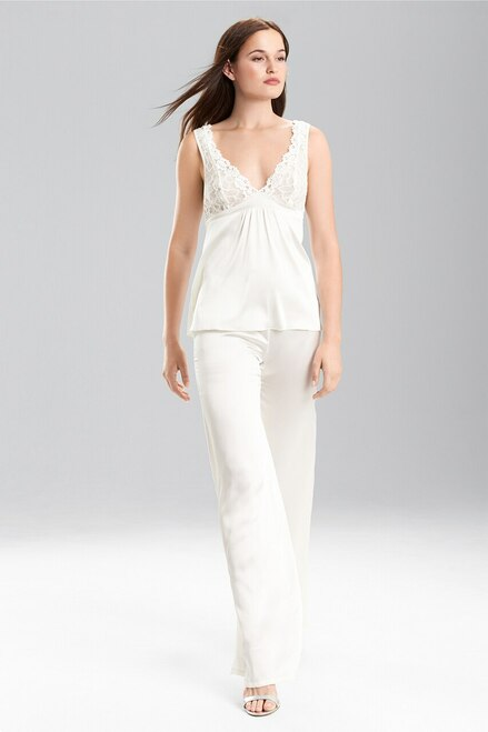 Josie Natori Rose Parfait With Silk Charmeuse Camisole at The Natori Company