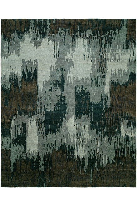 Natori Dynasty- Brushstroke Gray Tones Rug at The Natori Company
