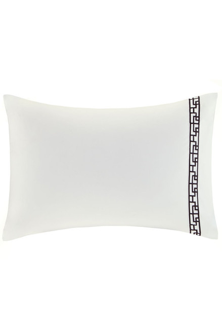 Ming Fretwork White/Black Pillow Case at The Natori Company