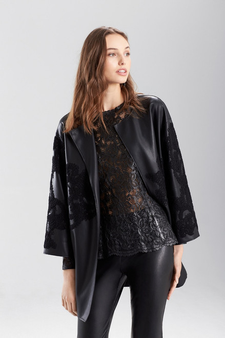 Faux Leather Topper at The Natori Company
