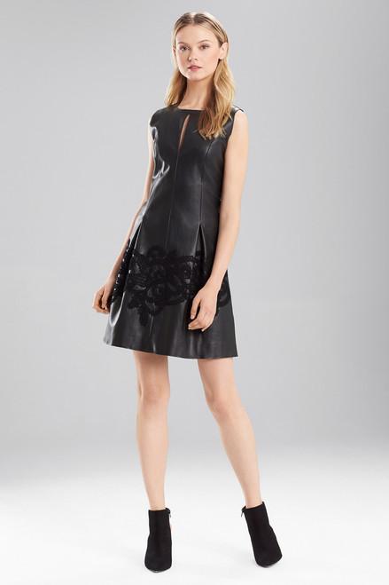 Faux Leather Dress at The Natori Company