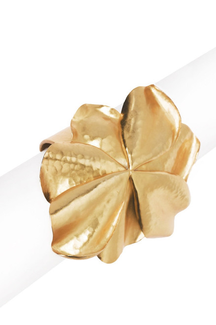 Josie Natori Metal Floral Cuff at The Natori Company