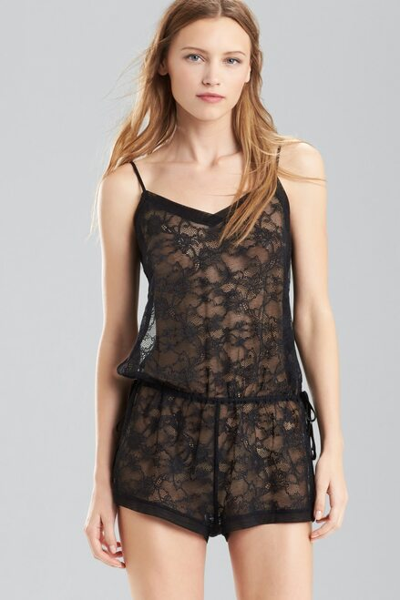 Josie Natori Valeria Romper at The Natori Company