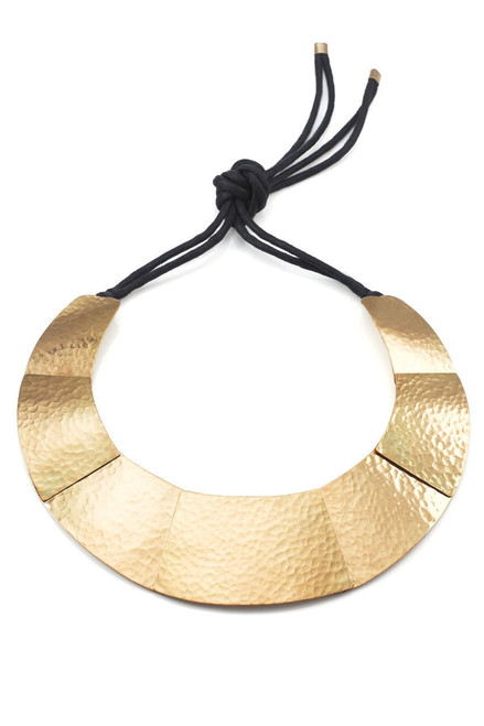 Josie Natori Geometric Brass Necklace at The Natori Company