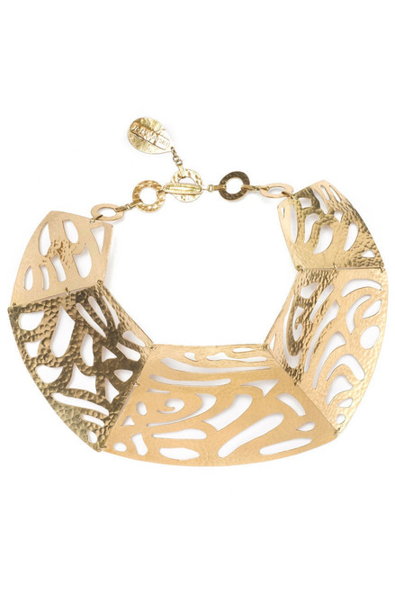 Josie Natori Gold Cut-Out Necklace at The Natori Company