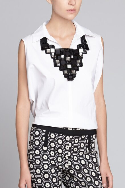 Josie Natori Geometric Necklace at The Natori Company