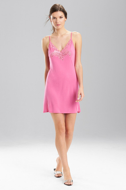 Natori Feathers Chemise with Center Lace at The Natori Company