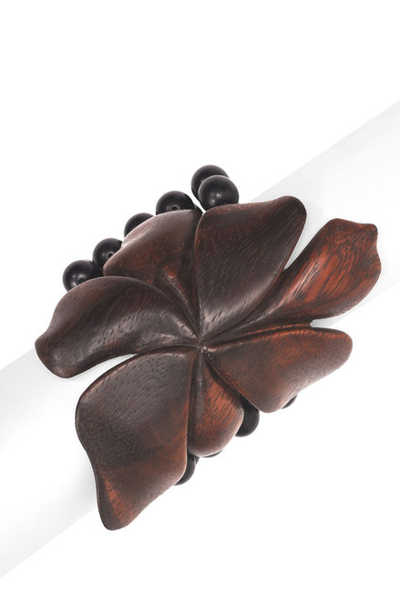 Buy Josie Natori Acacia Wood Floral Bracelet from