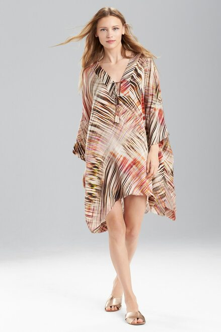 Josie Natori Printed Silk Charmeuse Tunic at The Natori Company