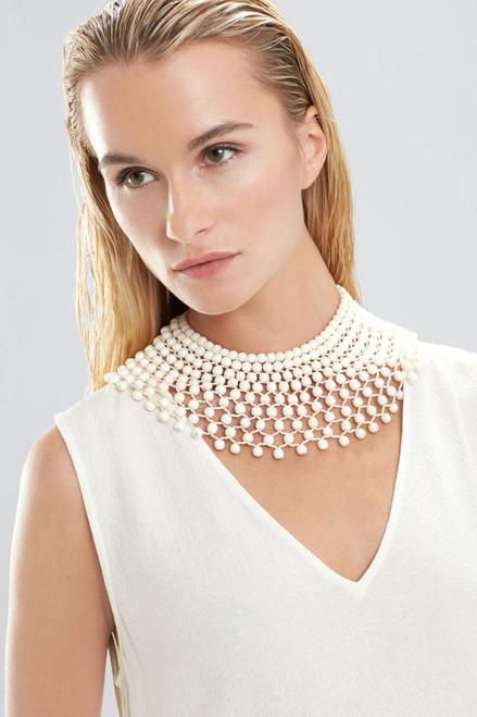 Josie Natori Bone Small Beaded Necklace at The Natori Company