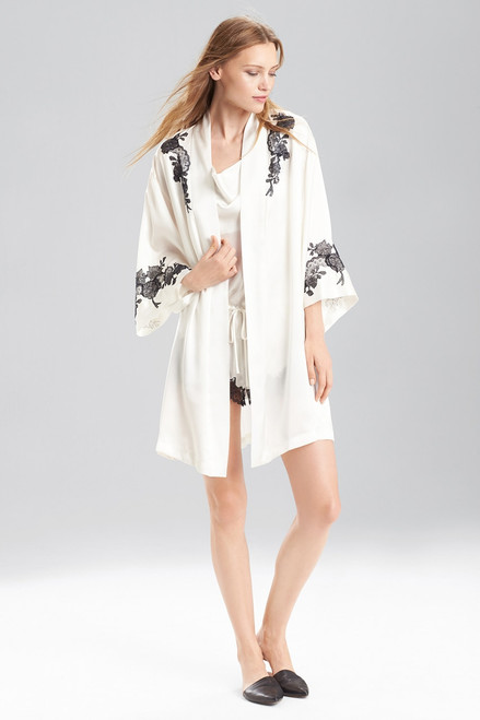 Buy Josie Natori Lolita Two-Tone Wrap with Lace from