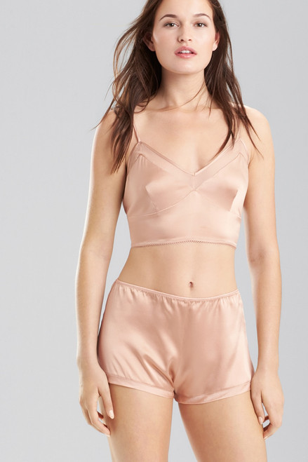 Josie Natori Stretch Silk Charmeuse Cropped Cami at The Natori Company