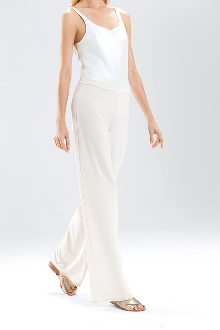 Josie Natori Matte Jersey Wide Leg Pants at The Natori Company