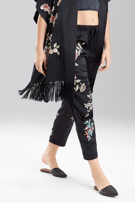 Josie Natori Embroidery Pants at The Natori Company