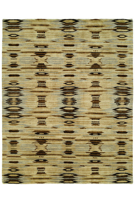 Natori Dynasty- Ethnic Ikat Light Tones Rug at The Natori Company