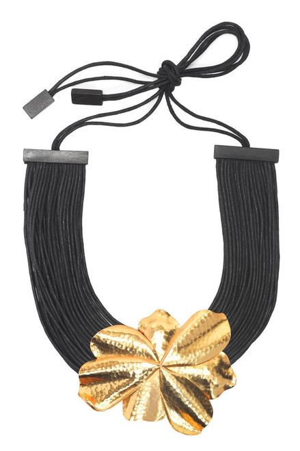 Josie Natori Metal Floral Necklace at The Natori Company