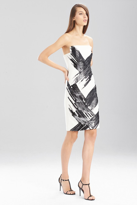 Buy Fluid Crepe Strapless Dress from