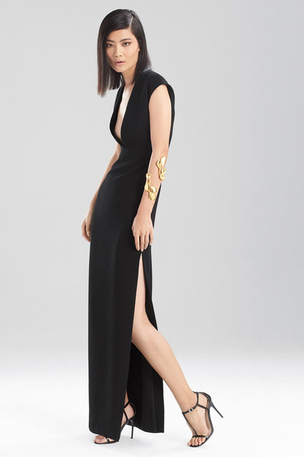 Fluid Crepe V-Neck Maxi at The Natori Company