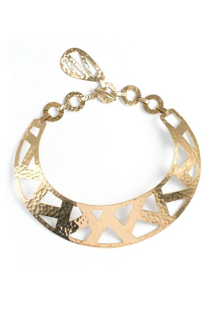 Josie Natori Geometric Gold Necklace at The Natori Company