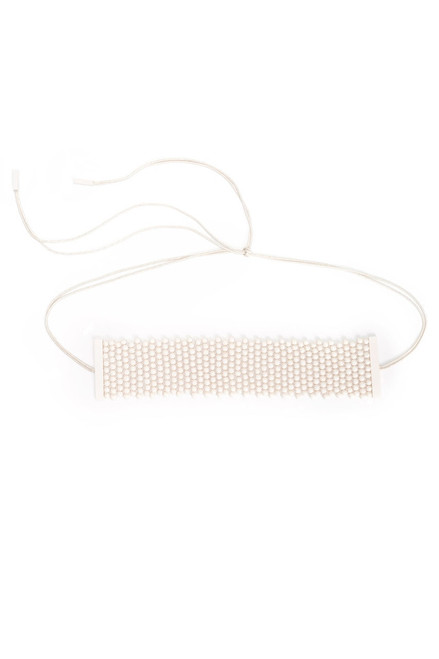 Josie Natori Bone Small Beaded Belt at The Natori Company