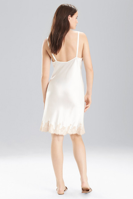 Josie Natori Lolita Chemise with Top and Bottom Lace at The Natori Company