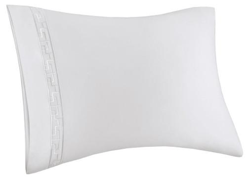 Ming Fretwork White/White Pillow Case at The Natori Company