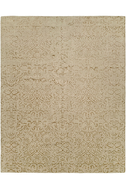 Natori Shangri-La- Etched Geo Brown Tones Rug at The Natori Company