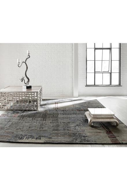 Natori Dynasty- Abstract Plaid Rug at The Natori Company
