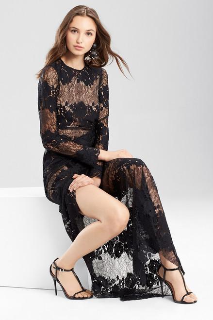 Josie Natori Lace Long Twist Dress at The Natori Company