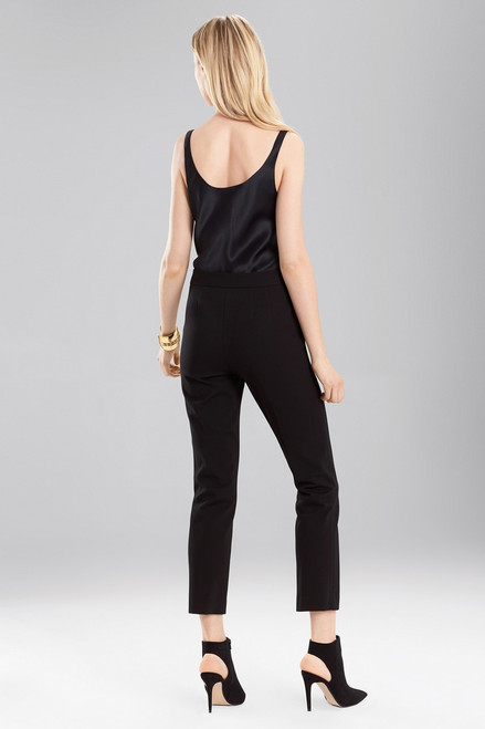 Josie Natori Double Knit Jersey Classic Ankle Pants at The Natori Company