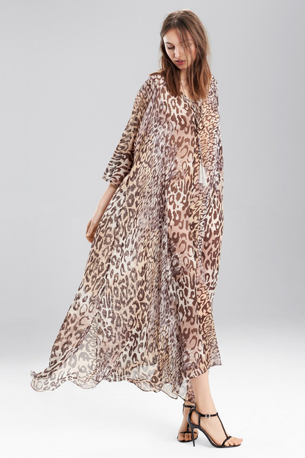 Josie Natori Shadow Leopard Caftan at The Natori Company