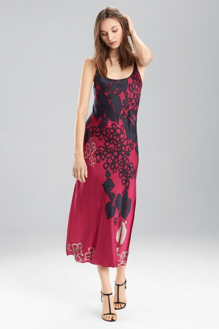 Josie Natori Floral Veil Gown at The Natori Company