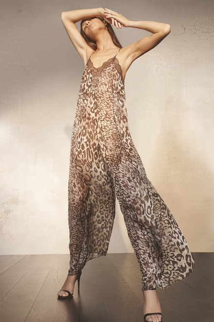 Josie Natori Shadow Leopard Jumpsuit at The Natori Company