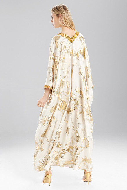 Josie Natori Couture Embellished Luster Caftan at The Natori Company