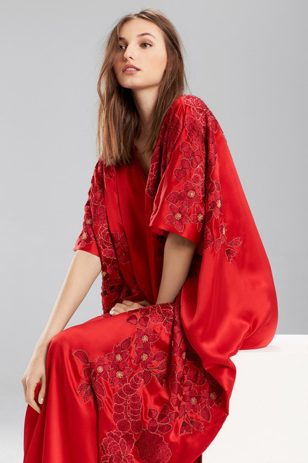 Josie Natori Couture Jacquard Embroidery Caftan at The Natori Company