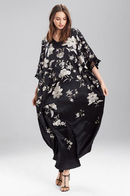 Josie Natori Couture Montones Square Caftan at The Natori Company