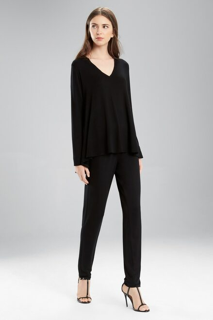 Natori Lounge V-Neck Swing Top at The Natori Company