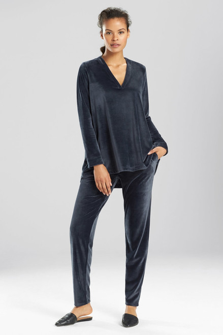N Natori Velour Long Sleeve Top at The Natori Company