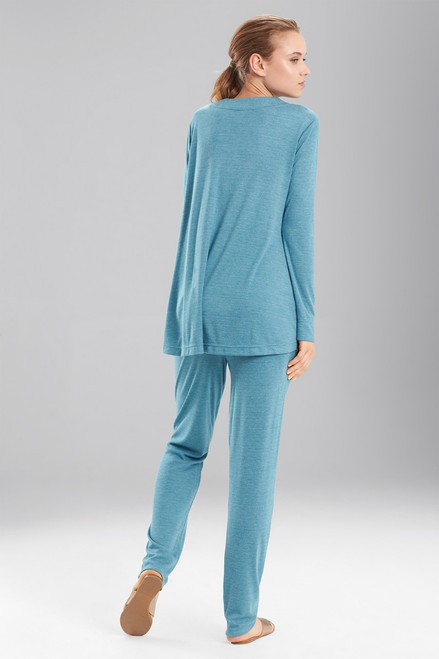 N Natori Speckled Interlock Long Sleeve Top at The Natori Company