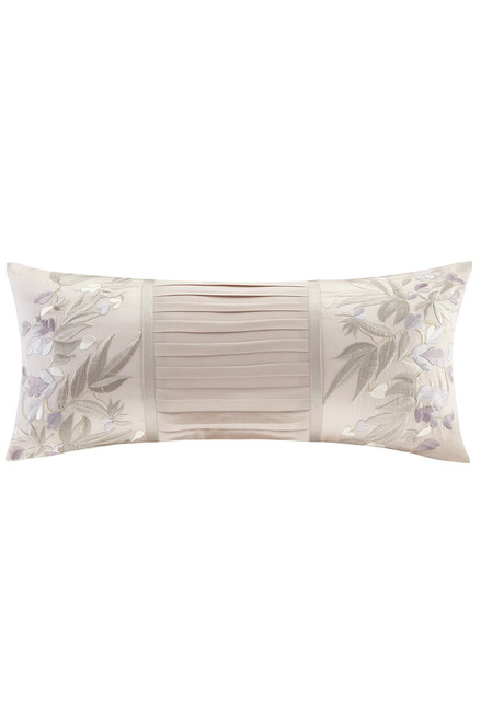 Natori Wisteria Oblong Pillow With Embroidery at The Natori Company